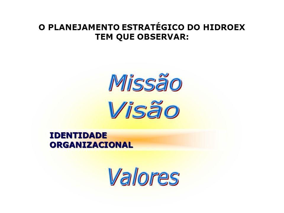 O PLANEJAMENTO ESTRATÉGICO DO HIDROEX