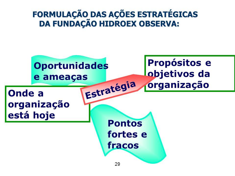 FORMULAÇÃO DAS AÇÕES ESTRATÉGICAS DA FUNDAÇÃO HIDROEX OBSERVA: