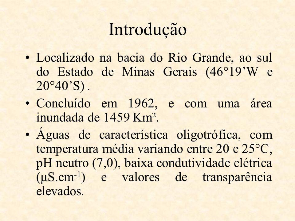 Introdução Localizado na bacia do Rio Grande, ao sul do Estado de Minas Gerais (46°19'W e 20°40'S) .