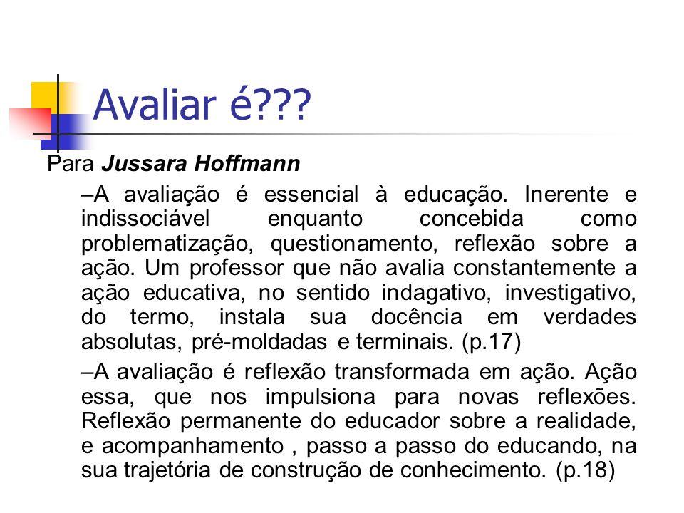 Avaliar é Para Jussara Hoffmann