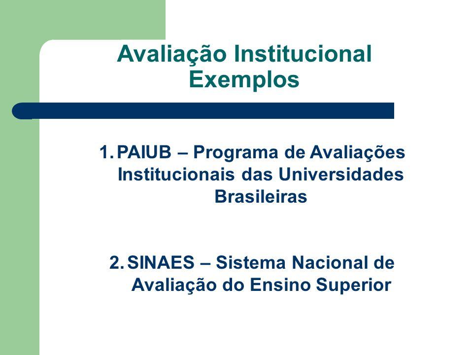 Avaliação Institucional Exemplos