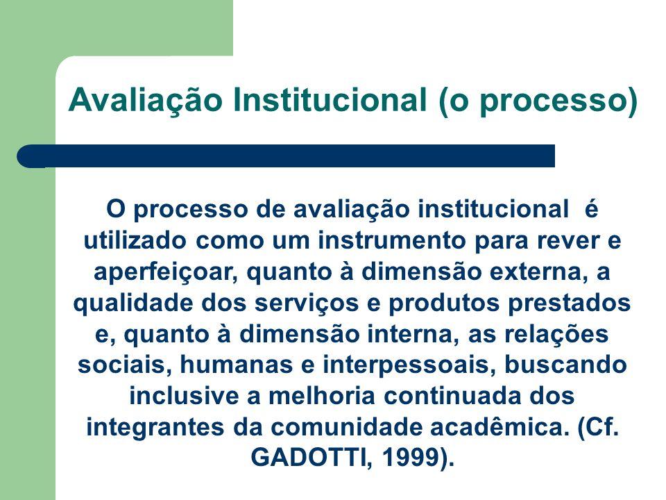 Avaliação Institucional (o processo)