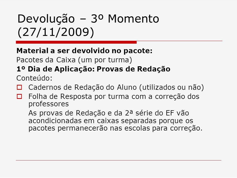 Devolução – 3º Momento (27/11/2009)