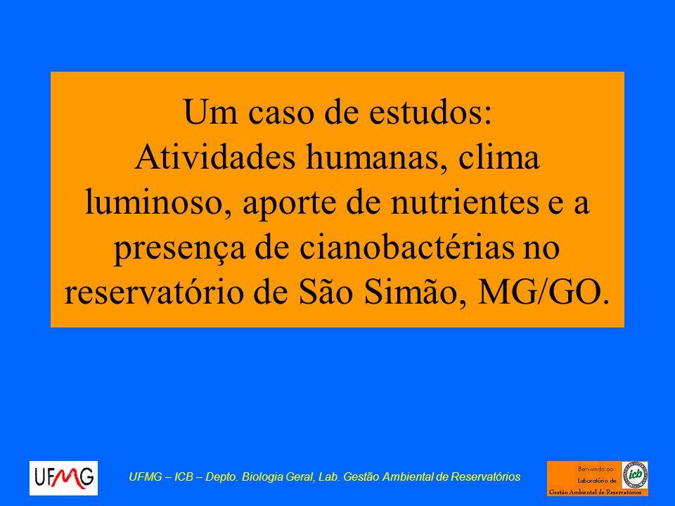 Um caso de estudos: Atividades humanas, clima luminoso, aporte de nutrientes e a presença de cianobactérias no reservatório de São Simão, MG/GO.