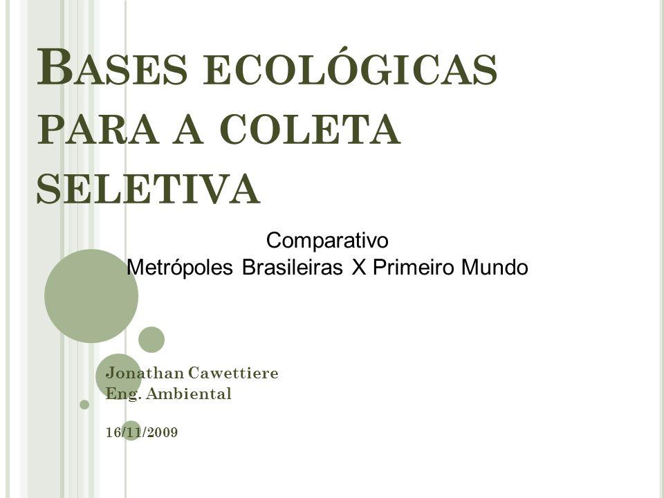 Bases ecológicas para a coleta seletiva