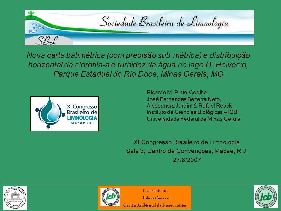 Nova carta batimétrica (com precisão sub-métrica) e distribuição horizontal da clorofila-a e turbidez da água no lago D. Helvécio, Parque Estadual do Rio Doce, Minas Gerais, MG