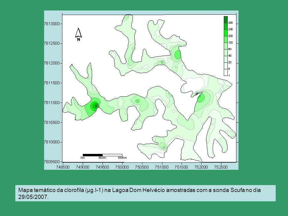 Mapa temático da clorofila (μg