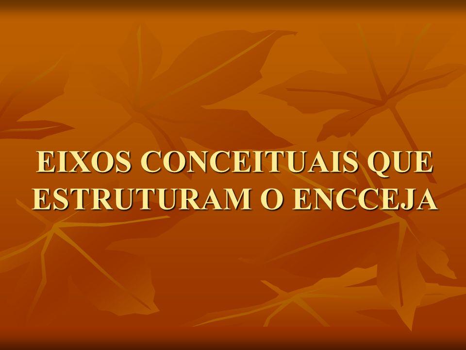EIXOS CONCEITUAIS QUE ESTRUTURAM O ENCCEJA
