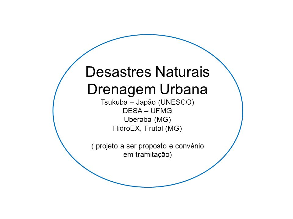 Desastres Naturais Drenagem Urbana Tsukuba – Japão (UNESCO)