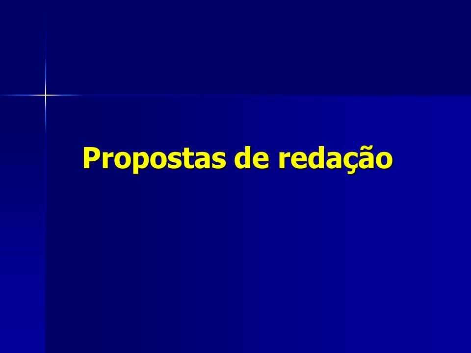 Propostas de redação