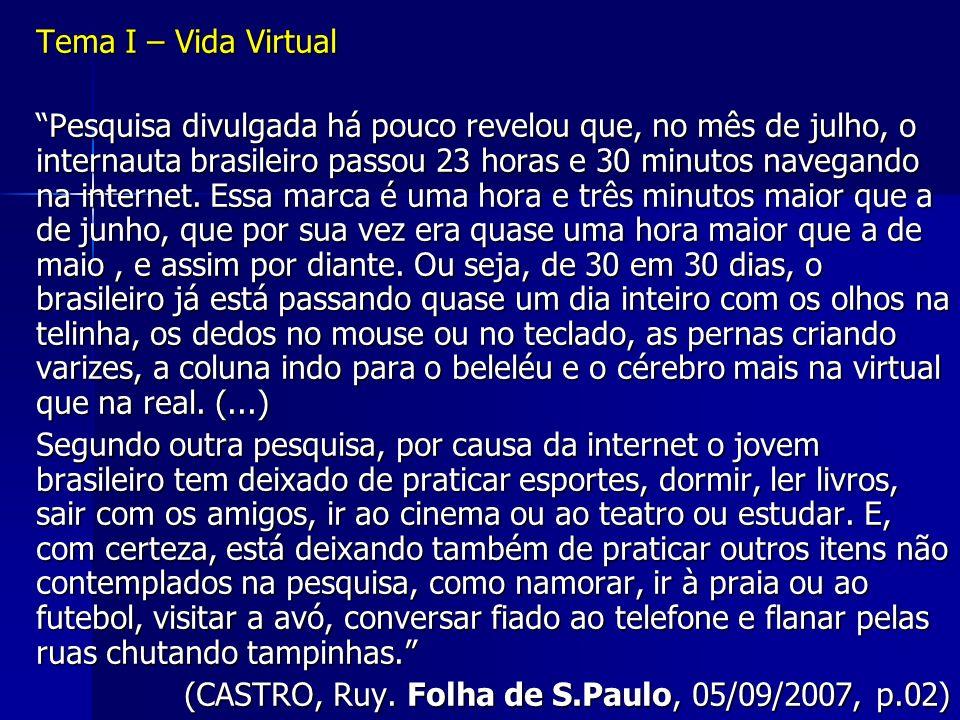 Tema I – Vida Virtual