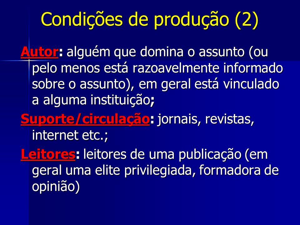 Condições de produção (2)