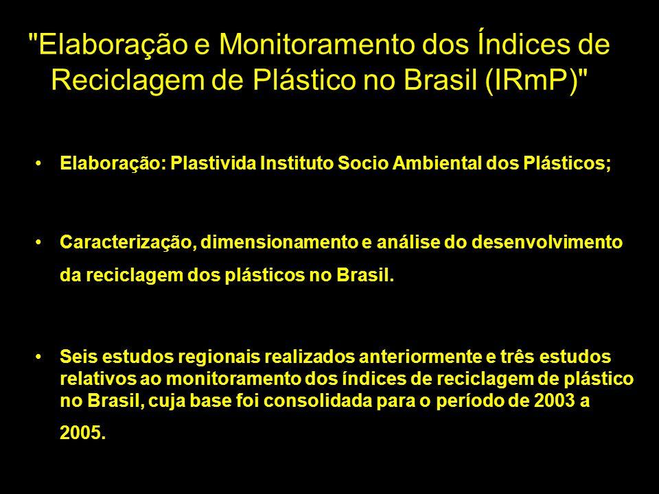 Elaboração e Monitoramento dos Índices de Reciclagem de Plástico no Brasil (IRmP)