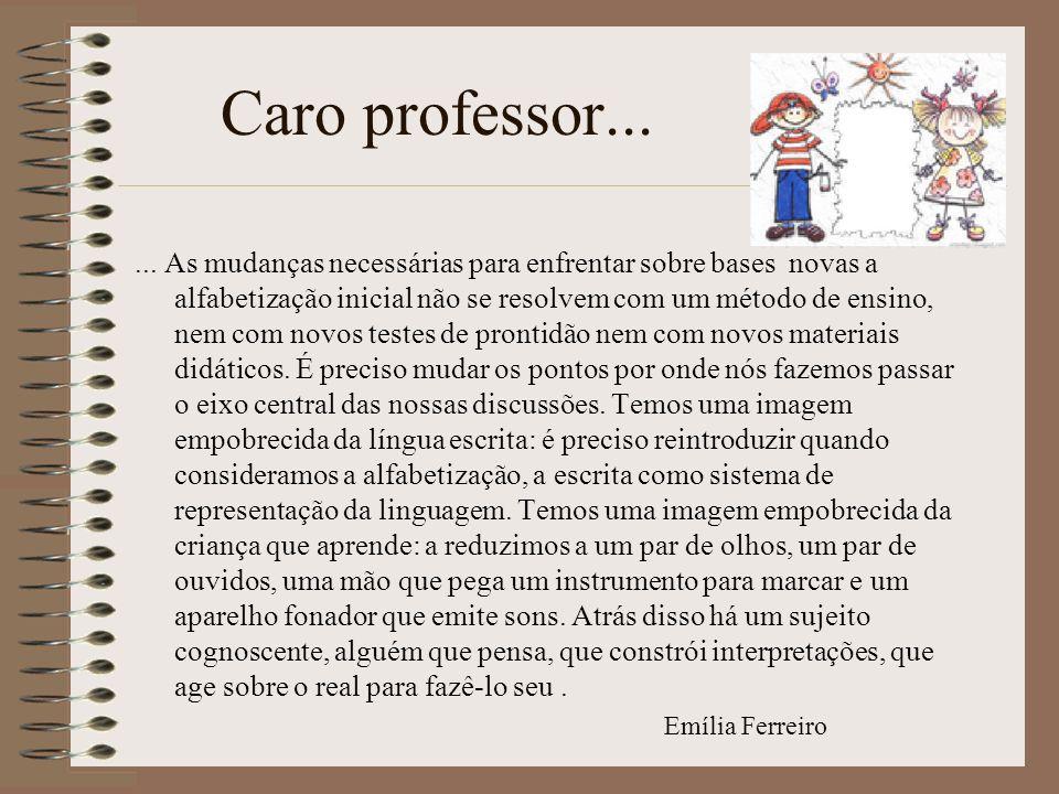 Caro professor...