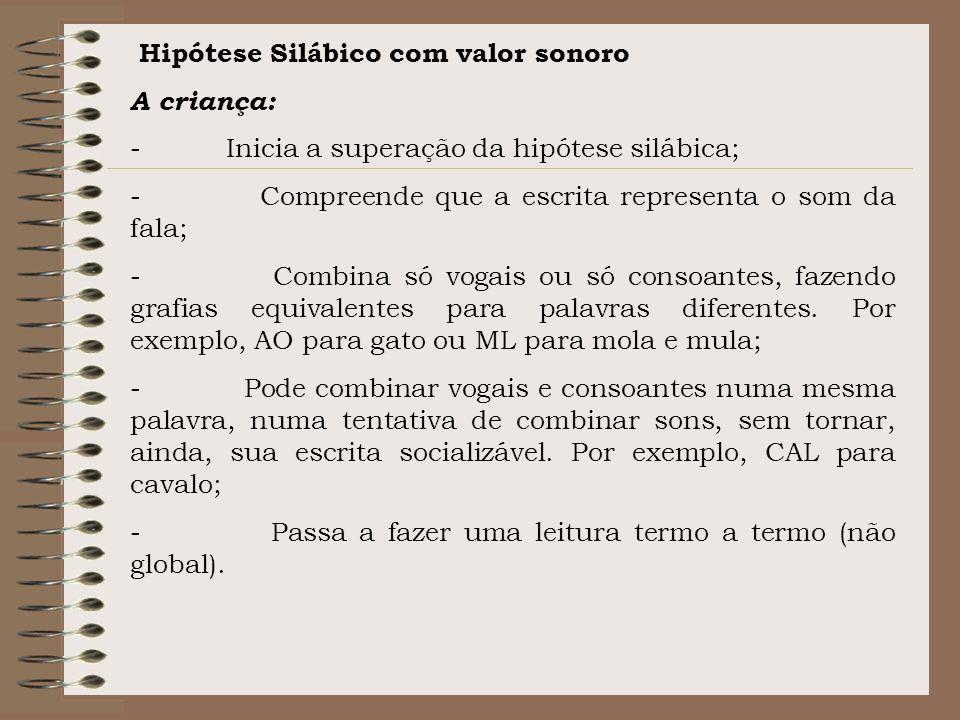 Hipótese Silábico com valor sonoro