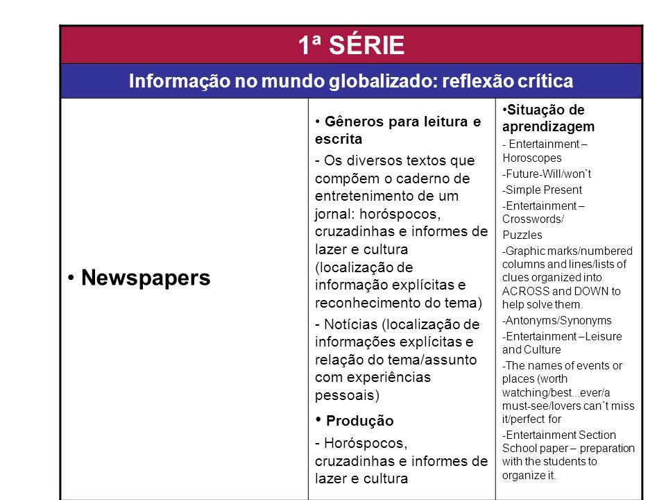 Informação no mundo globalizado: reflexão crítica