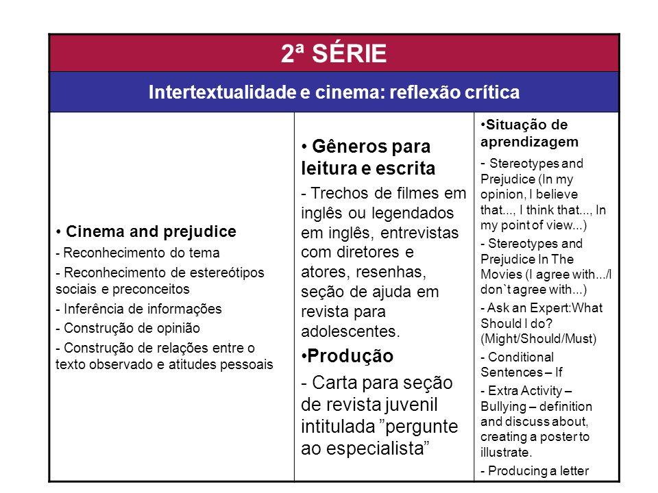 Intertextualidade e cinema: reflexão crítica