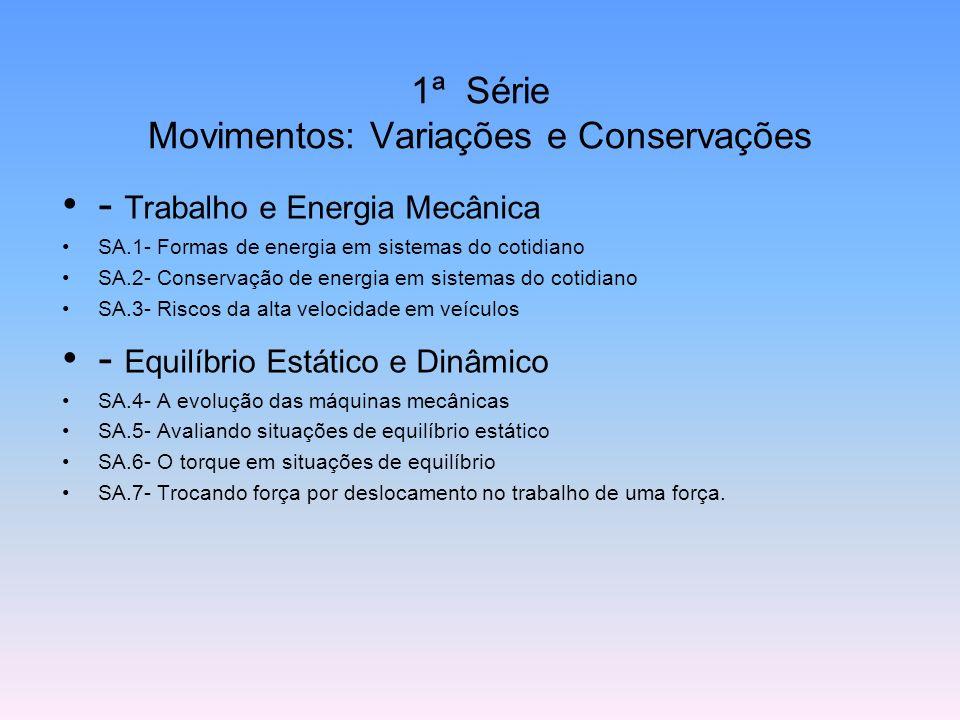 1ª Série Movimentos: Variações e Conservações