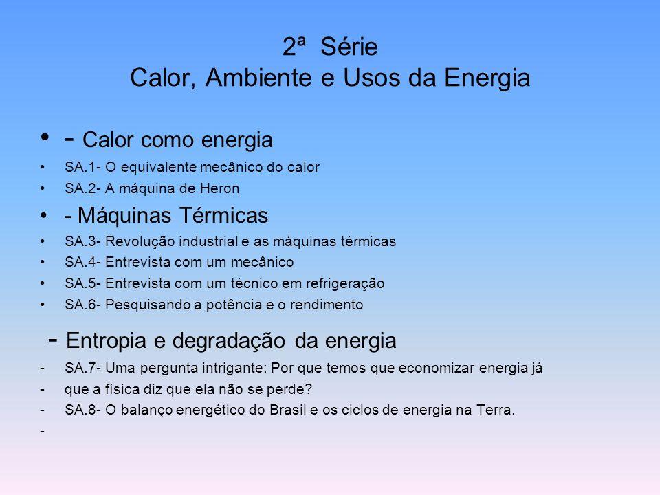 2ª Série Calor, Ambiente e Usos da Energia