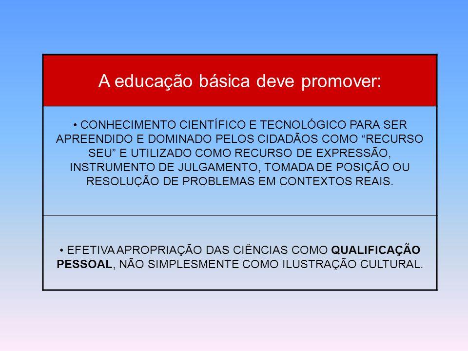 A educação básica deve promover: