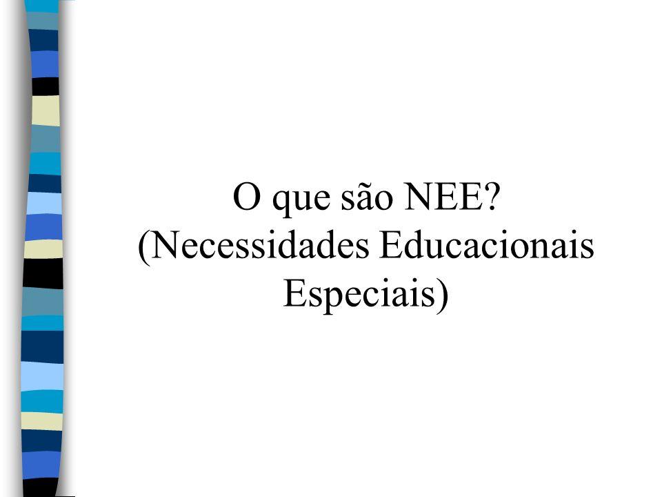 O que são NEE (Necessidades Educacionais Especiais)