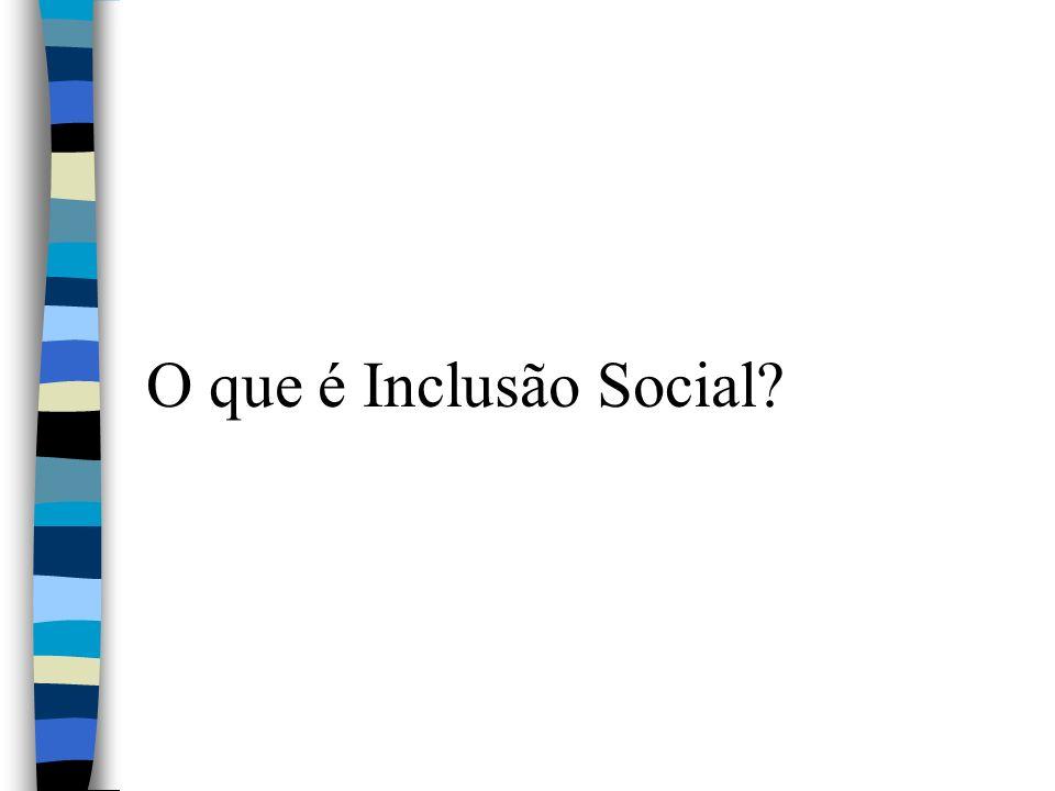O que é Inclusão Social