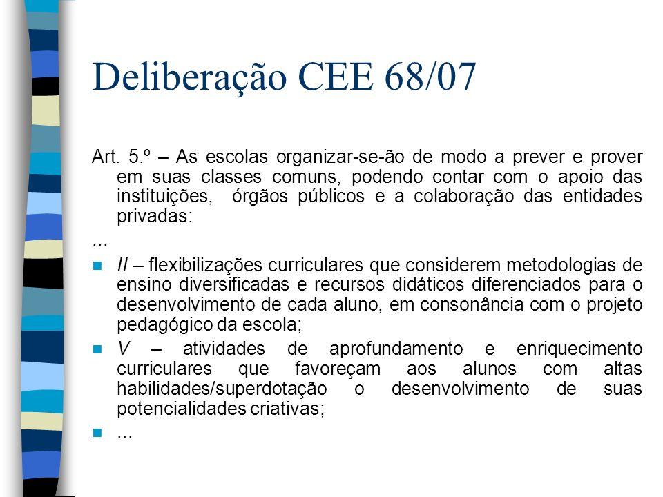 Deliberação CEE 68/07