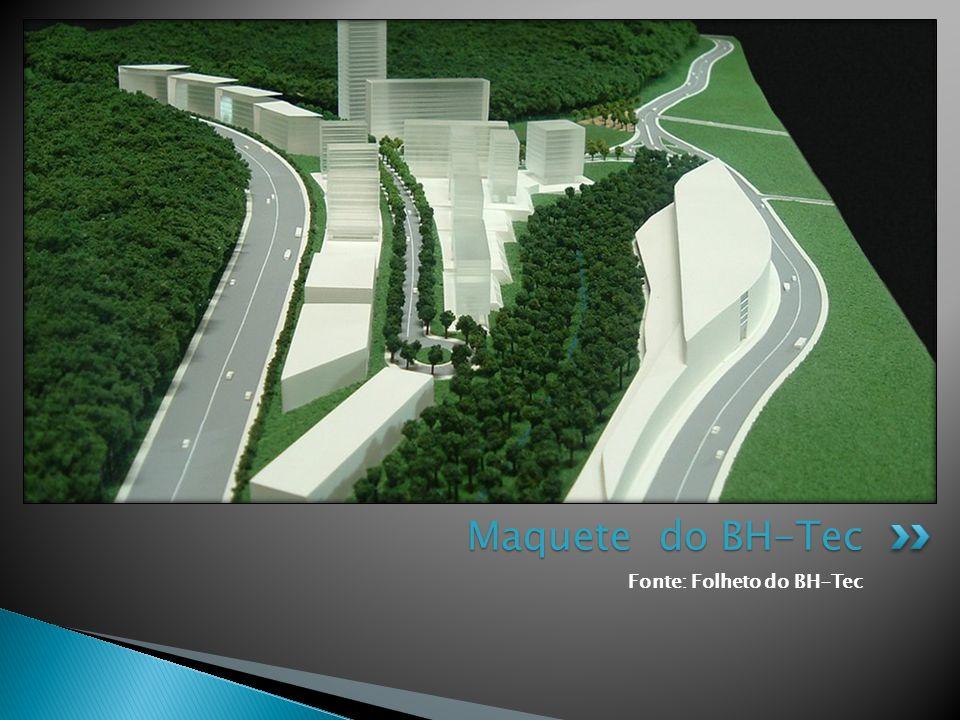 Maquete do BH-Tec Fonte: Folheto do BH-Tec