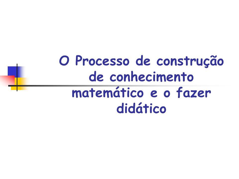 O Processo de construção de conhecimento matemático e o fazer didático