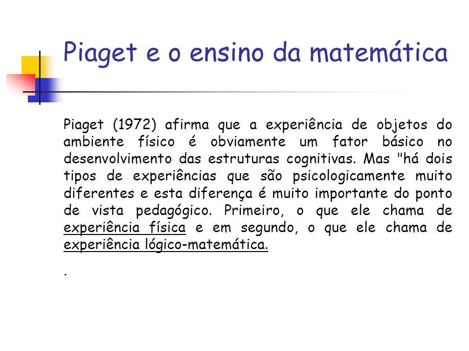 Piaget e o ensino da matemática
