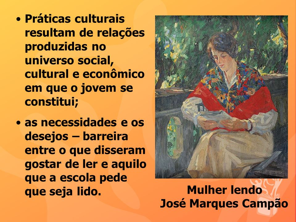 Mulher lendo José Marques Campão