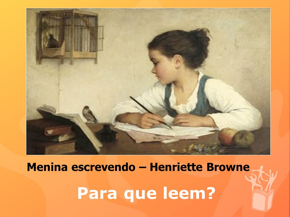 Menina escrevendo – Henriette Browne
