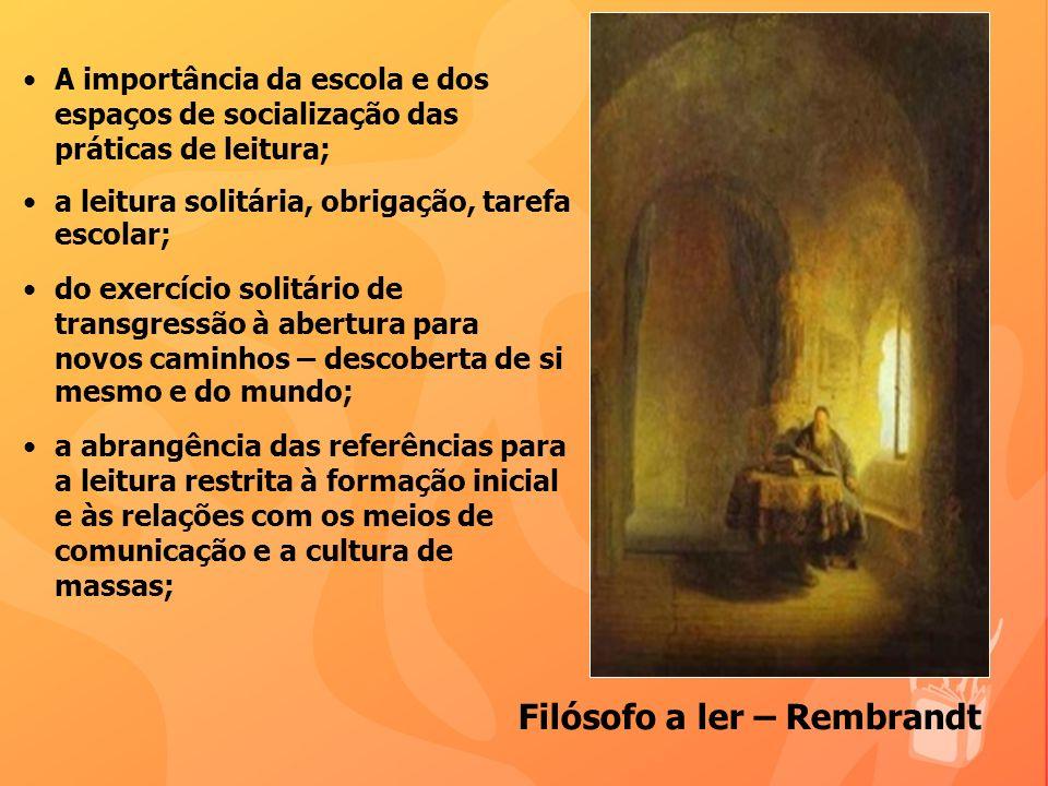 Filósofo a ler – Rembrandt