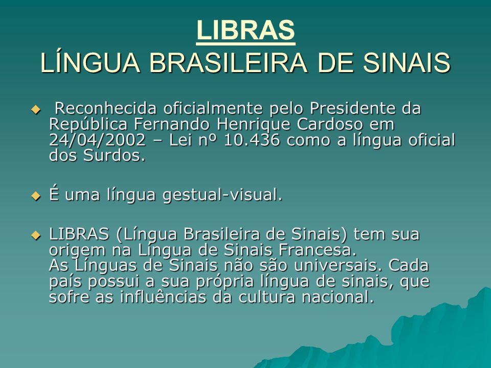 LIBRAS LÍNGUA BRASILEIRA DE SINAIS