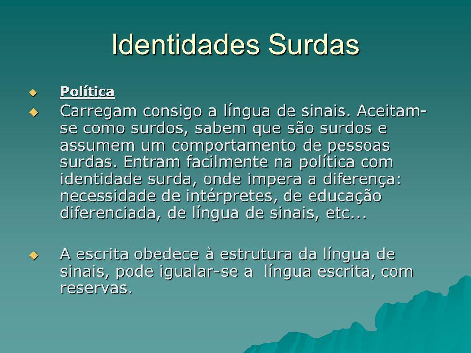 Identidades Surdas Política.