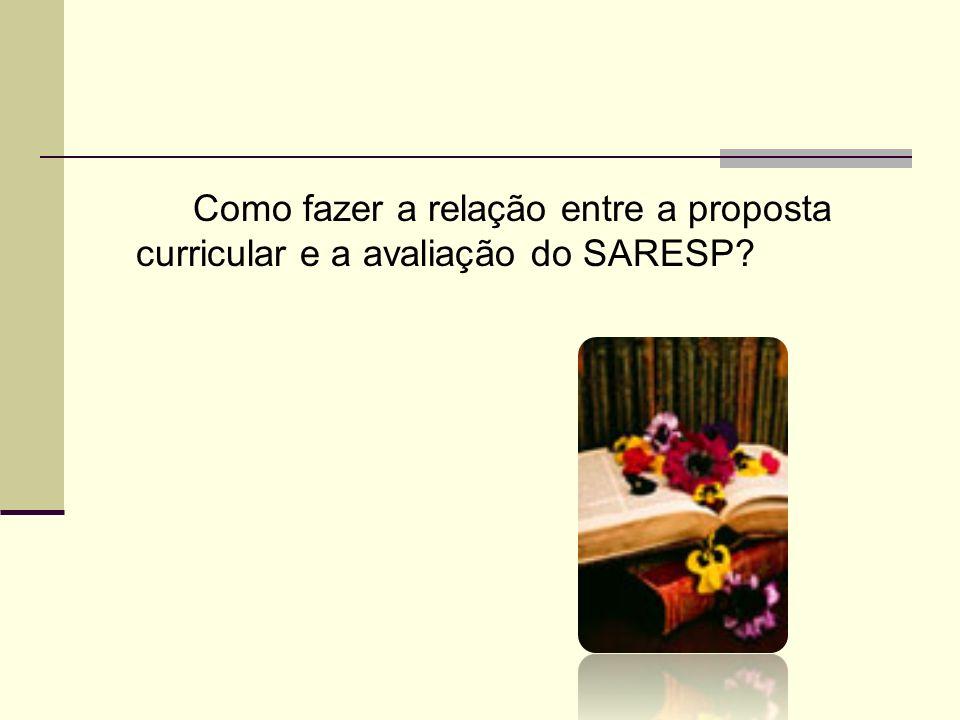 Como fazer a relação entre a proposta curricular e a avaliação do SARESP