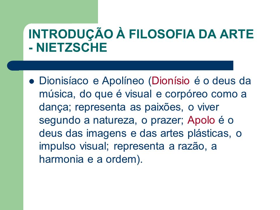 INTRODUÇÃO À FILOSOFIA DA ARTE - NIETZSCHE