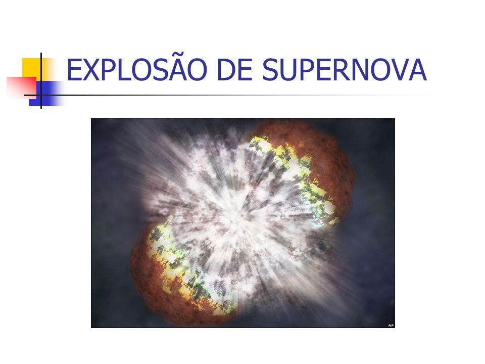 EXPLOSÃO DE SUPERNOVA EXPLOSÃO DE SUPERNOVA (durou 70 dias)