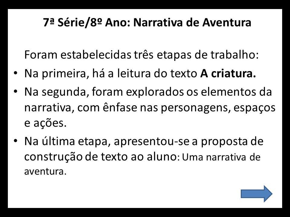 7ª Série/8º Ano: Narrativa de Aventura