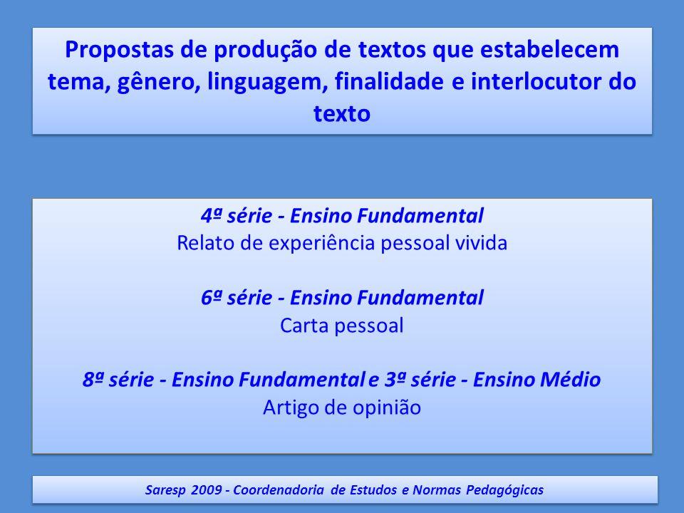 Saresp 2009 - Coordenadoria de Estudos e Normas Pedagógicas