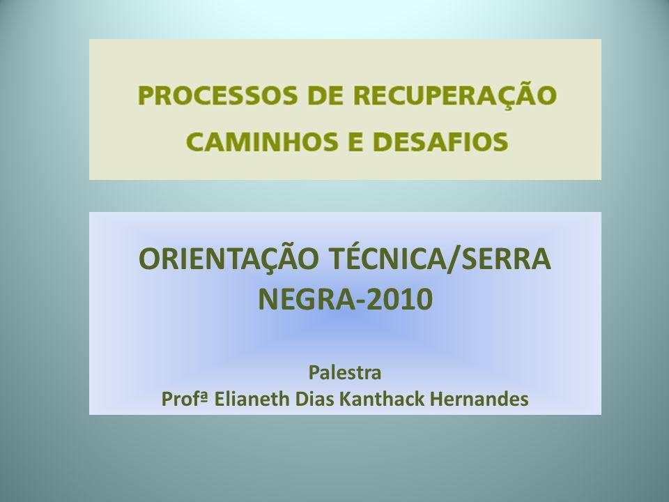 ORIENTAÇÃO TÉCNICA/SERRA NEGRA-2010