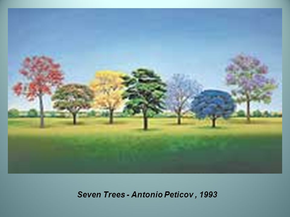Seven Trees - Antonio Peticov , 1993
