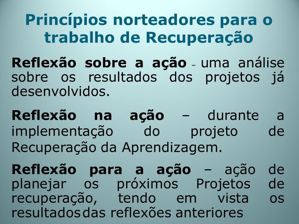 Princípios norteadores para o trabalho de Recuperação