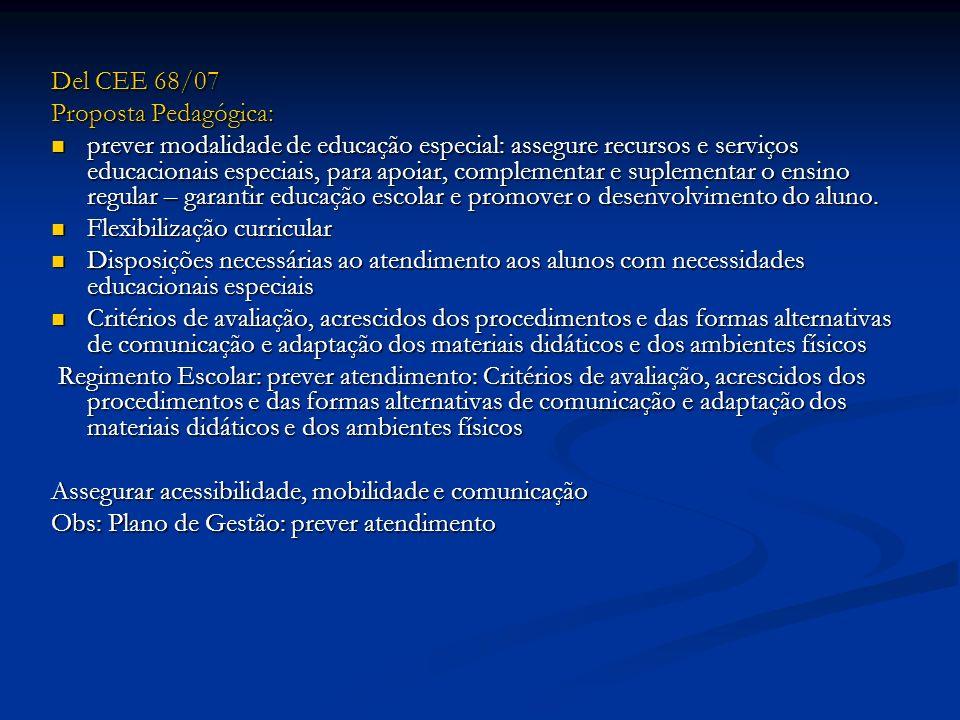 Del CEE 68/07 Proposta Pedagógica: