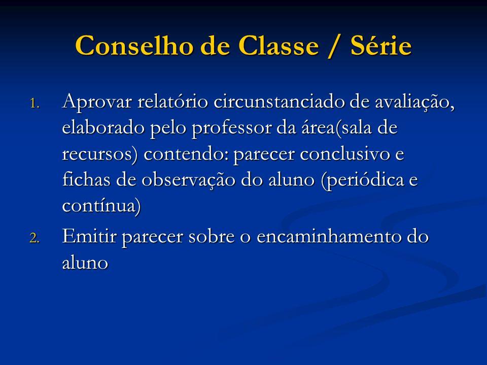 Conselho de Classe / Série
