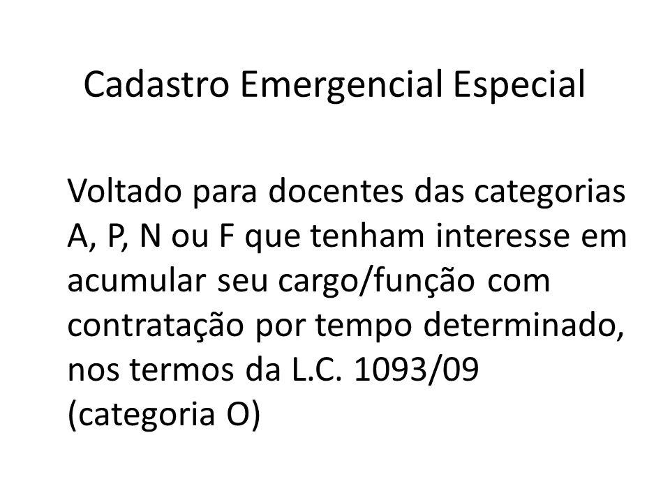 Cadastro Emergencial Especial