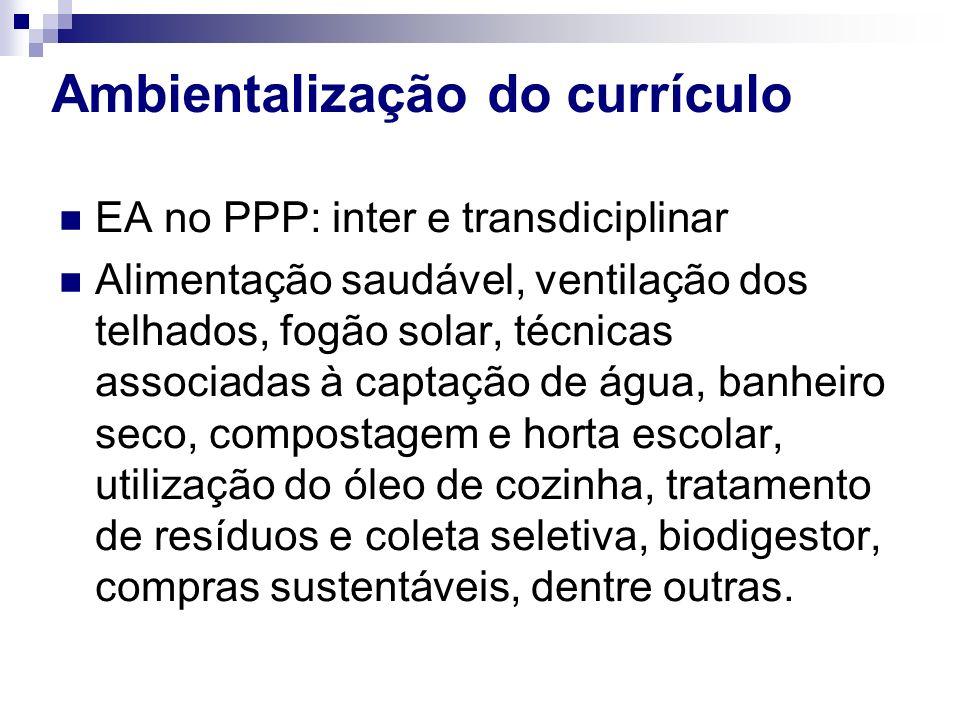 Ambientalização do currículo