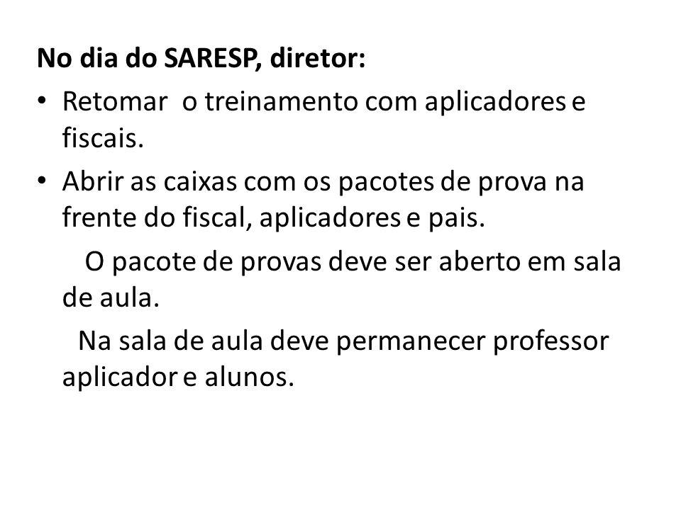 No dia do SARESP, diretor: