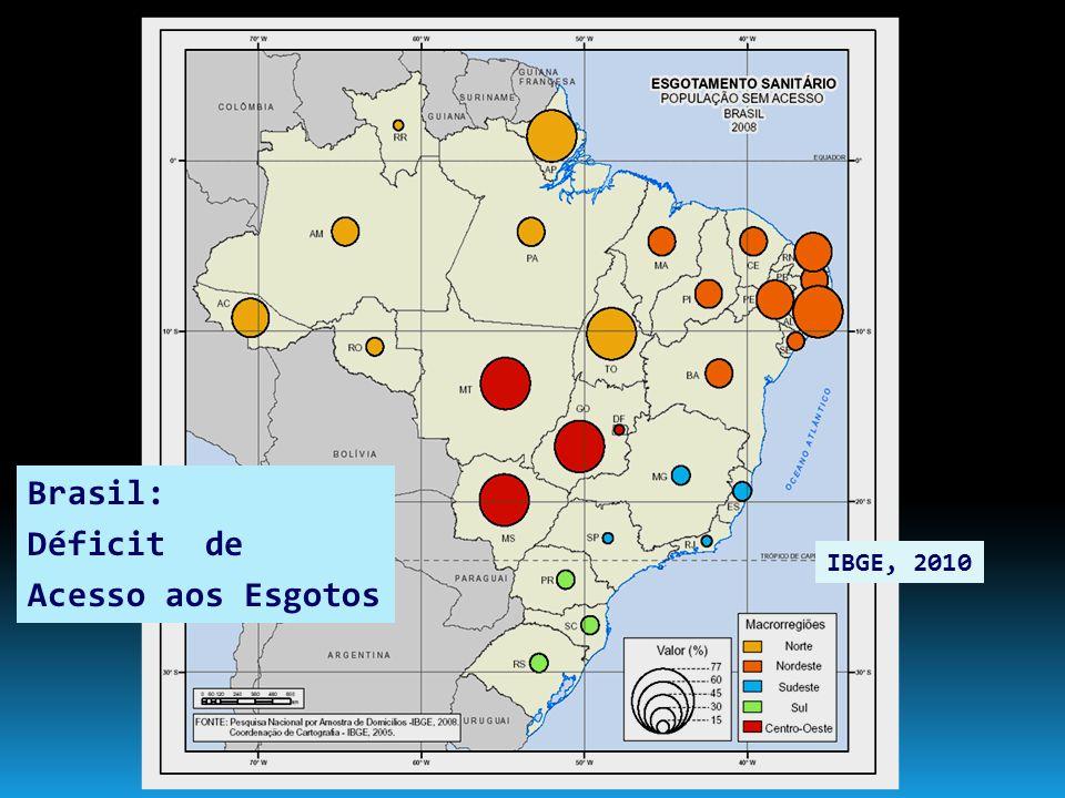 Brasil: Déficit de Acesso aos Esgotos IBGE, 2010 6
