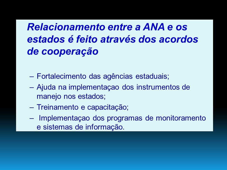 Relacionamento entre a ANA e os estados é feito através dos acordos de cooperação